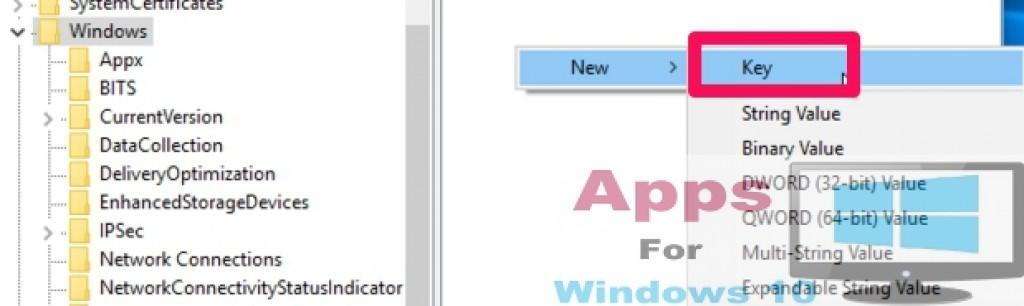 New_Key_Registry_Windows10