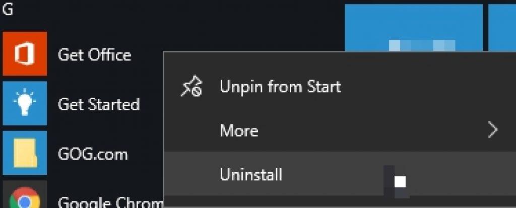 uninsall-get-office-app-on-windows-10