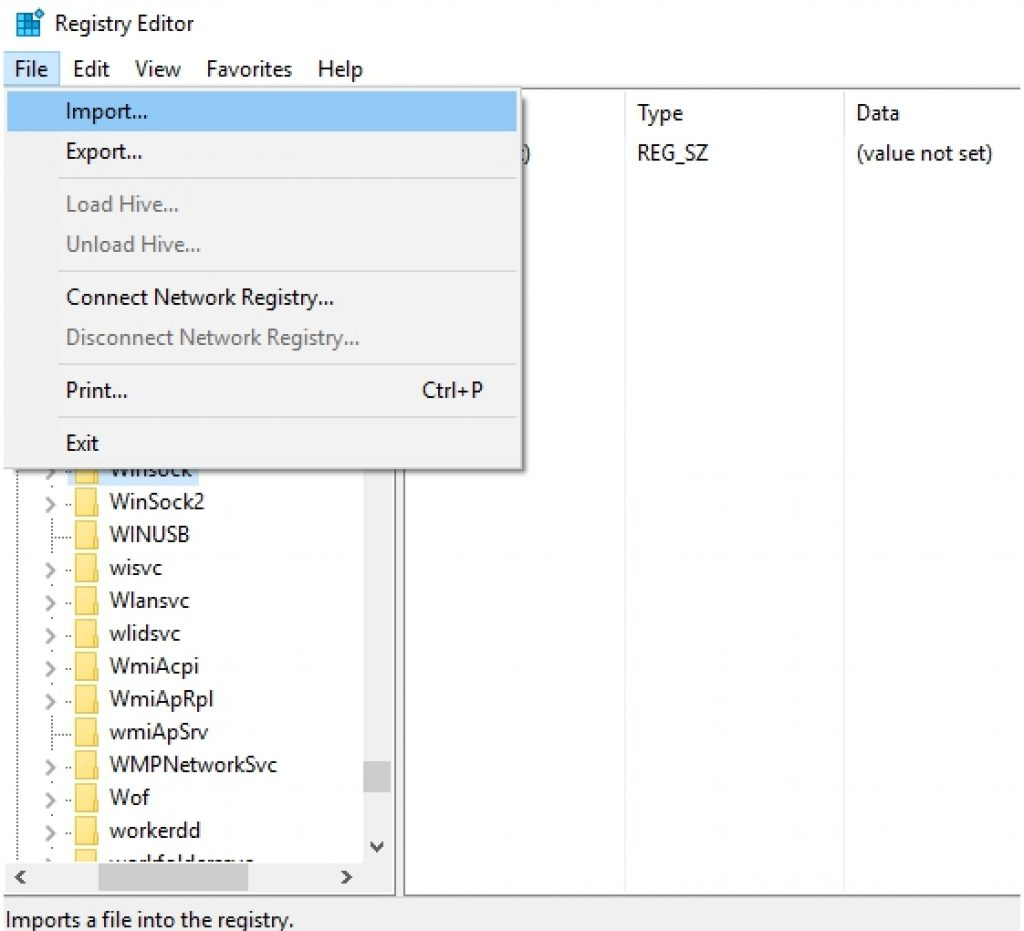 import-registry-in-registry-editor