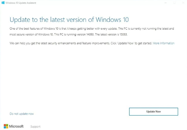 install windows 10 creators update with assistant tool