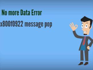 fix error 0x800F0922 on windows 10